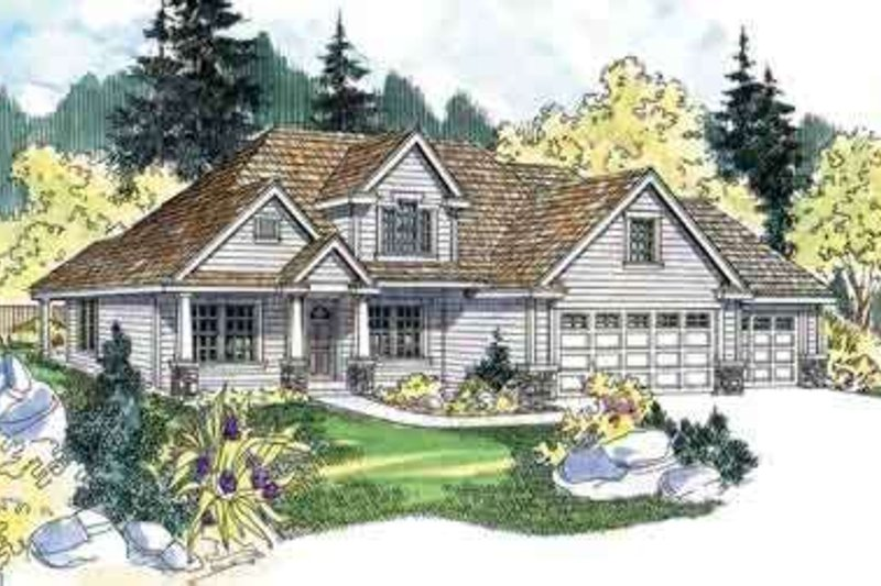 Dream House Plan - Farmhouse Exterior - Front Elevation Plan #124-517
