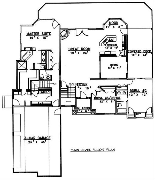 Traditional Floor Plan - Main Floor Plan Plan #117-545