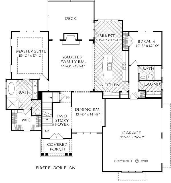 Home Plan - Farmhouse Floor Plan - Main Floor Plan #927-1003