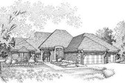 House Plan - 4 Beds 3 Baths 2514 Sq/Ft Plan #310-120 Exterior - Front Elevation