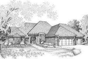 Exterior - Front Elevation Plan #310-120