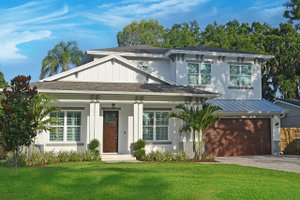 Contemporary Exterior - Front Elevation Plan #938-92