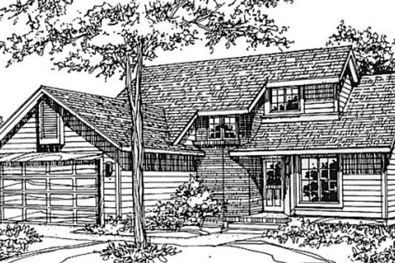 Traditional Style House Plan - 3 Beds 2.5 Baths 1542 Sq/Ft Plan #320-379 Exterior - Front Elevation