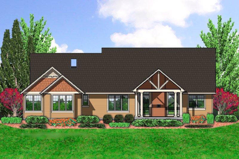 Craftsman Exterior - Rear Elevation Plan #48-555 - Houseplans.com