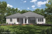 Ranch Style House Plan - 3 Beds 3.5 Baths 2743 Sq/Ft Plan #930-470 Exterior - Rear Elevation