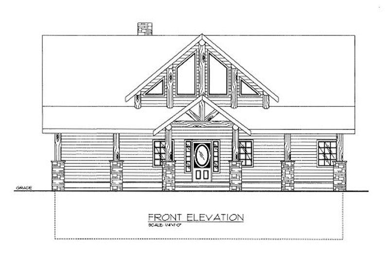 Craftsman Style House Plan - 3 Beds 2.5 Baths 2315 Sq/Ft Plan #117-692 Exterior - Front Elevation