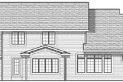 Craftsman Style House Plan - 4 Beds 2.5 Baths 2498 Sq/Ft Plan #70-623 Exterior - Rear Elevation