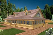 Dream House Plan - Traditional Exterior - Front Elevation Plan #117-323