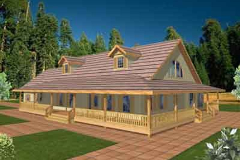 Traditional Exterior - Front Elevation Plan #117-323 - Houseplans.com
