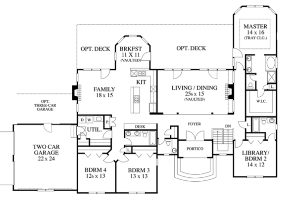 Country Floor Plan - Main Floor Plan Plan #1053-57