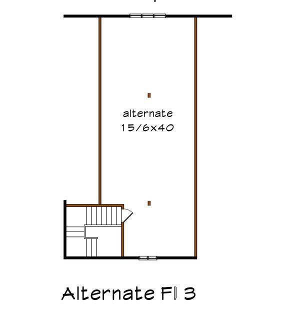 Country Floor Plan - Other Floor Plan Plan #79-279