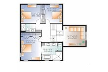 Contemporary Floor Plan - Upper Floor Plan Plan #23-2545