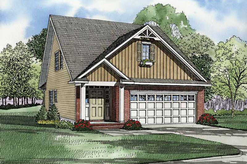 Dream House Plan - Craftsman Exterior - Front Elevation Plan #17-3244