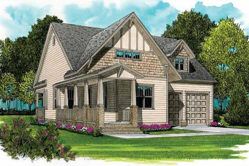 Craftsman Exterior - Front Elevation Plan #413-897 - Houseplans.com