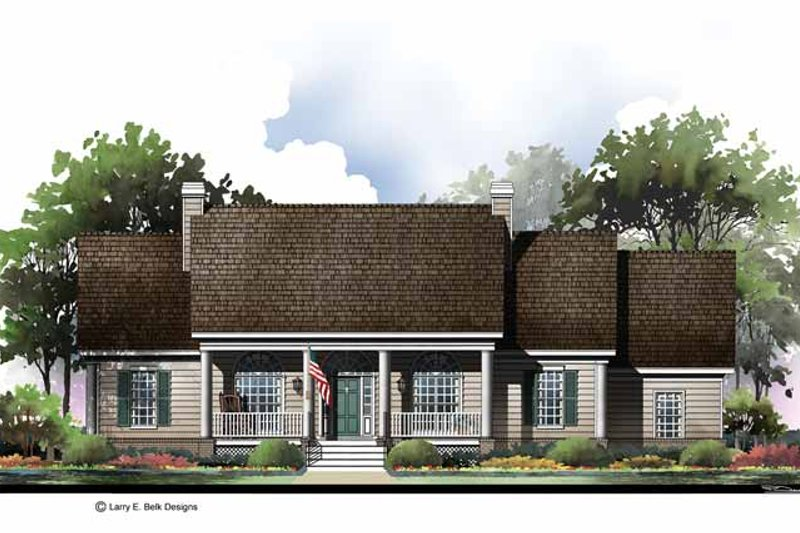 Country Exterior - Front Elevation Plan #952-279