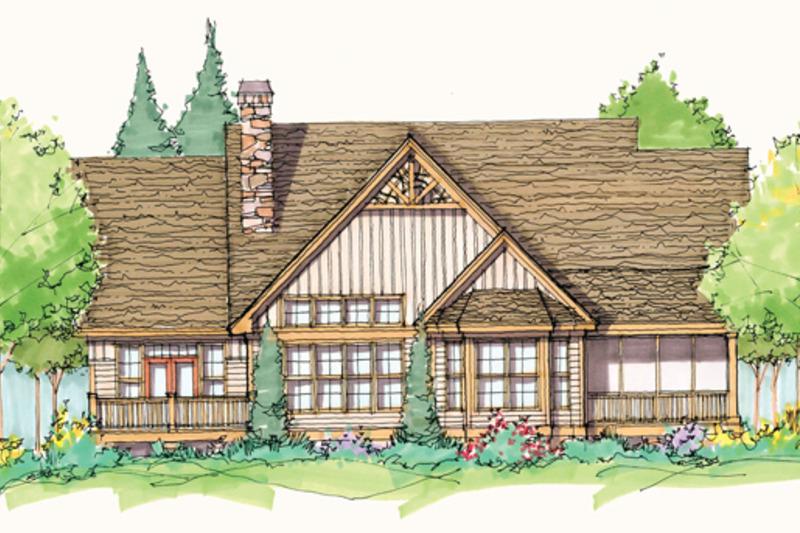 Craftsman Exterior - Rear Elevation Plan #929-935 - Houseplans.com
