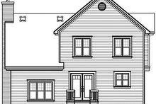 House Plan Design - European Exterior - Rear Elevation Plan #23-800