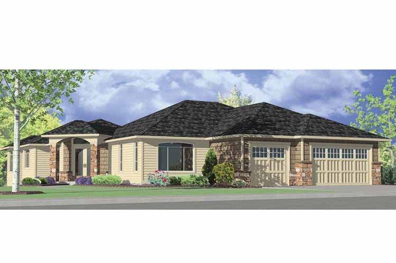 Prairie Exterior - Front Elevation Plan #951-12 - Houseplans.com