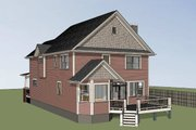 Country Style House Plan - 3 Beds 2.5 Baths 2301 Sq/Ft Plan #79-262 Exterior - Rear Elevation