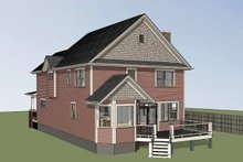 Dream House Plan - Country Exterior - Rear Elevation Plan #79-262