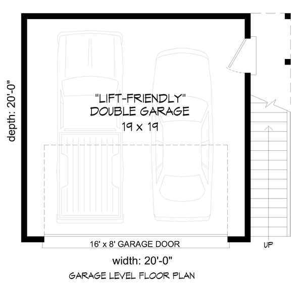 Contemporary Floor Plan - Main Floor Plan Plan #932-111