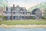 Traditional Style House Plan - 5 Beds 5.5 Baths 5280 Sq/Ft Plan #928-262 Exterior - Rear Elevation
