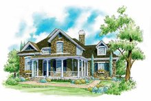 Country Exterior - Front Elevation Plan #930-202