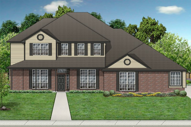 Architectural House Design - Country Exterior - Front Elevation Plan #84-420