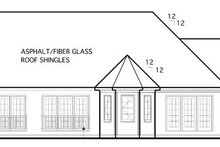 Country Exterior - Rear Elevation Plan #1053-57