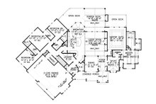 Craftsman Floor Plan - Main Floor Plan Plan #54-386