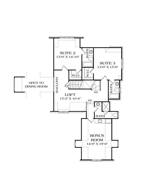 European Floor Plan - Upper Floor Plan Plan #453-606