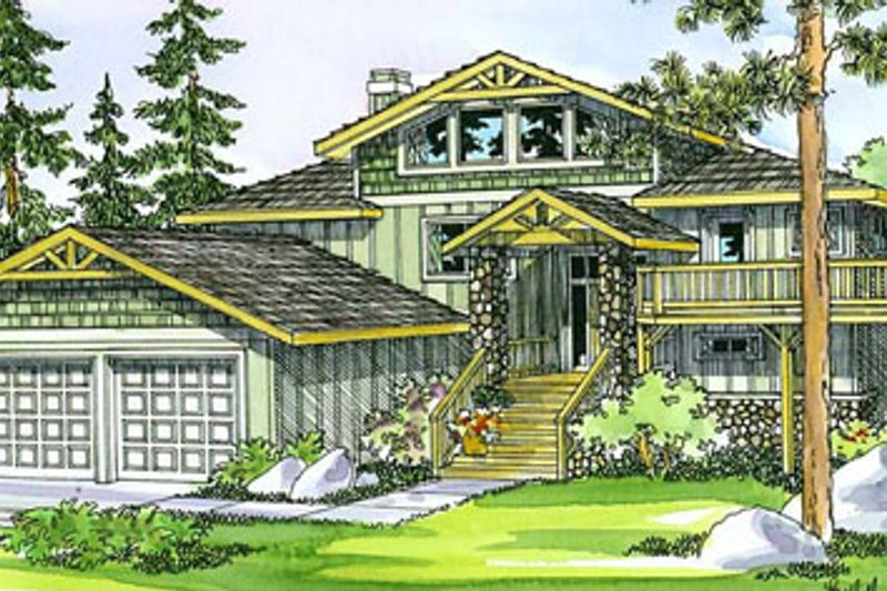 Craftsman Exterior - Front Elevation Plan #124-333