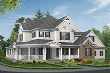 Country Exterior - Front Elevation Plan #132-352