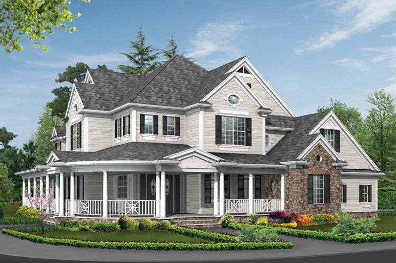 Country Exterior - Front Elevation Plan #132-352 - Houseplans.com