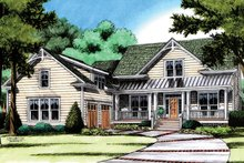 Dream House Plan - Traditional Exterior - Front Elevation Plan #991-30