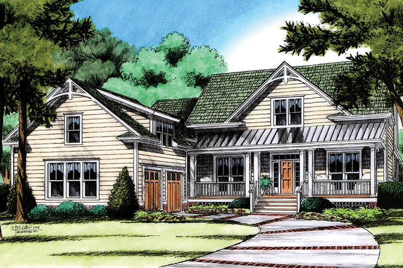 Traditional Exterior - Front Elevation Plan #991-30 - Houseplans.com