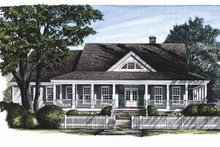 Classical Exterior - Front Elevation Plan #137-297