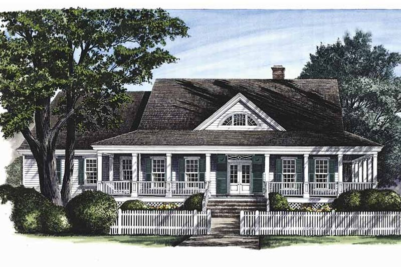 Classical Exterior - Front Elevation Plan #137-297 - Houseplans.com