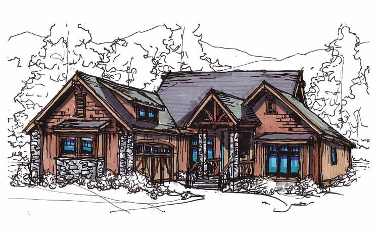 Craftsman Exterior - Front Elevation Plan #17-2910