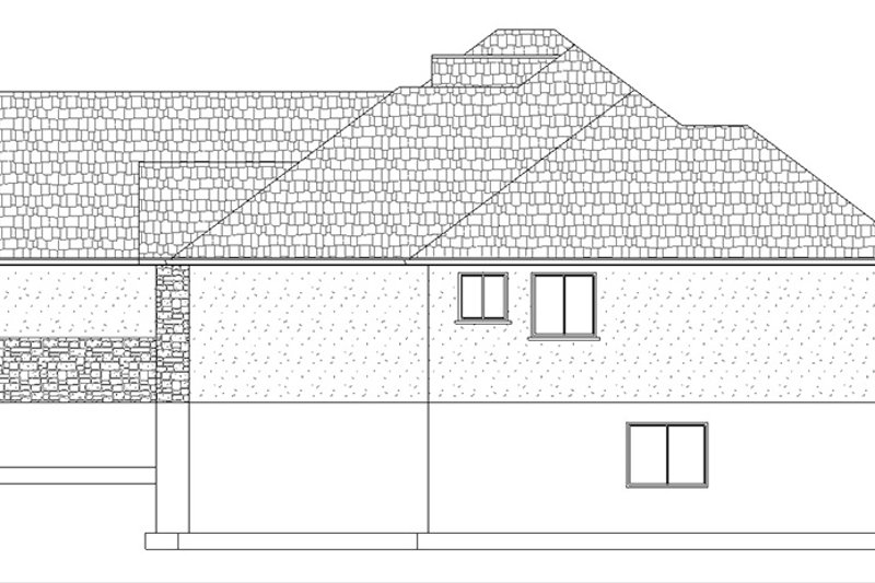 Ranch Exterior - Other Elevation Plan #1060-13 - Houseplans.com