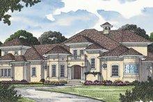 House Plan Design - Mediterranean Exterior - Front Elevation Plan #453-574