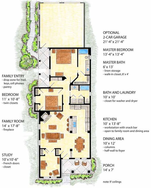 Country Floor Plan - Main Floor Plan Plan #410-3561
