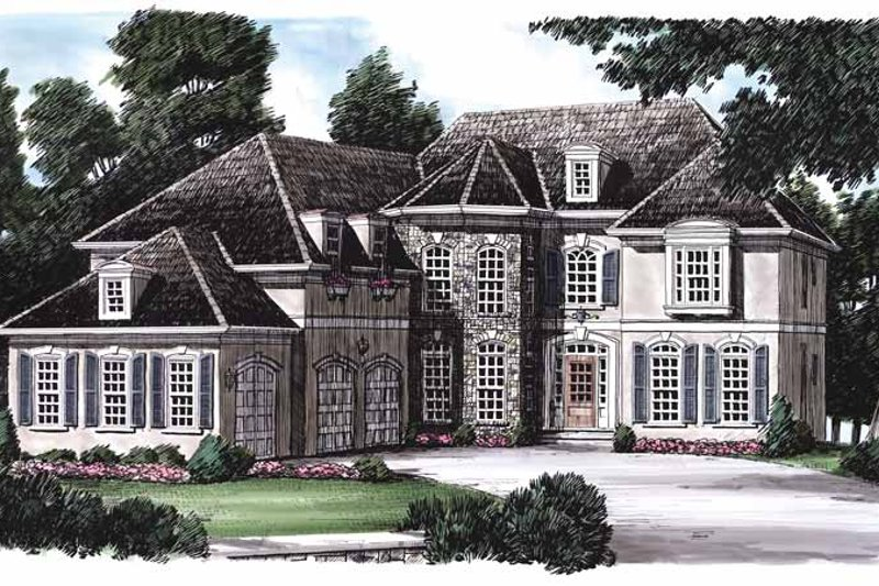 Mediterranean Exterior - Front Elevation Plan #927-202