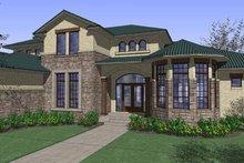 House Plan Design - Mediterranean Exterior - Front Elevation Plan #120-215