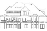 Traditional Style House Plan - 4 Beds 4 Baths 3250 Sq/Ft Plan #20-1671 Exterior - Rear Elevation
