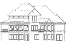 Dream House Plan - Traditional Exterior - Rear Elevation Plan #20-1671