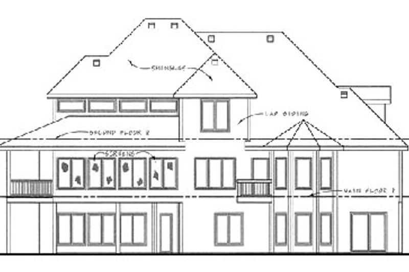 Traditional Exterior - Rear Elevation Plan #20-1671 - Houseplans.com