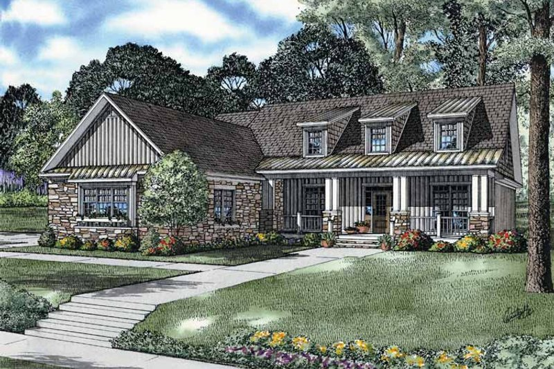 Architectural House Design - Craftsman Exterior - Front Elevation Plan #17-2679