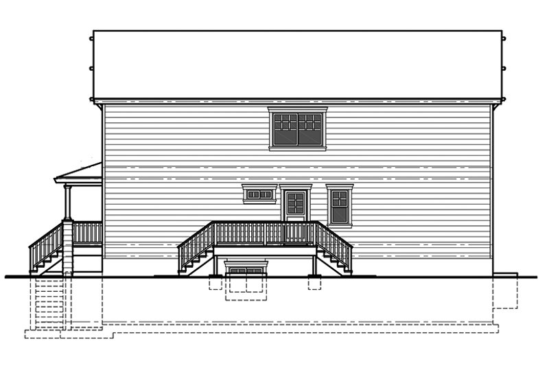 Craftsman Exterior - Other Elevation Plan #303-473 - Houseplans.com