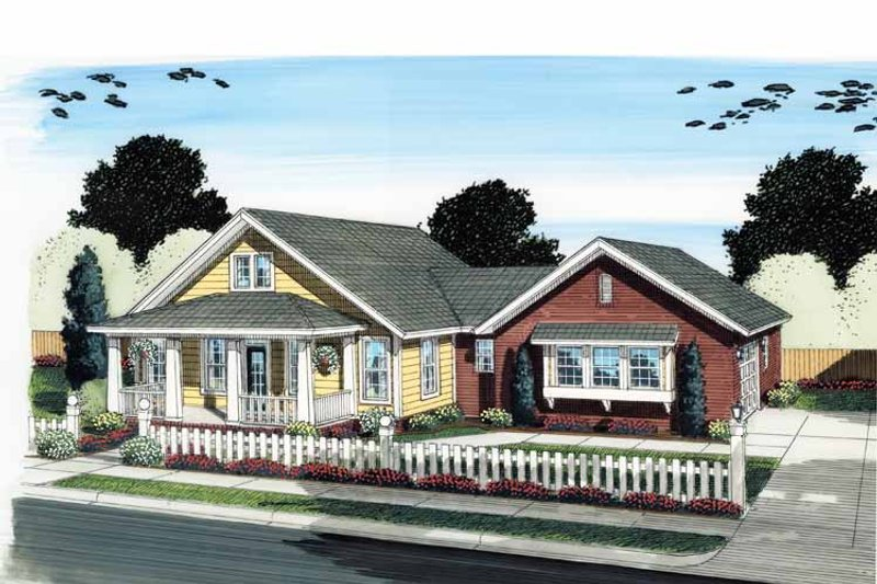 House Plan Design - Traditional Exterior - Front Elevation Plan #513-2124